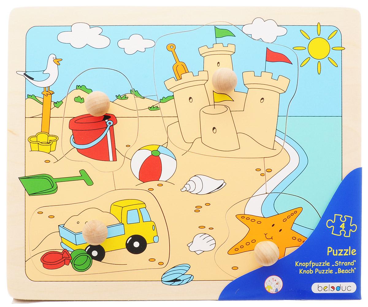 Beleduc Пазл для малышей Пляж beleduc пазл для малышей трактор