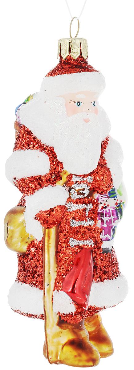 Украшение новогоднее подвесное Winter Wings Дед Мороз, высота 11 смN07616Новогоднее подвесное украшение Winter Wings Дед Мороз выполнено из стекла и украшено блестками. С помощью специальной петельки украшение можно повесить в любом понравившемся вам месте. Но, конечно, удачнее всего оно будет смотреться на праздничной елке.Елочная игрушка - символ Нового года. Она несет в себе волшебство и красоту праздника. Создайте в своем доме атмосферу веселья и радости, украшая новогоднюю елку нарядными игрушками, которые будут из года в год накапливать теплоту воспоминаний. Откройте для себя удивительный мир сказок и грез. Почувствуйте волшебные минуты ожидания праздника, создайте новогоднее настроение вашим дорогим и близким. Размер украшения: 4 х 4,5 х 11 см.