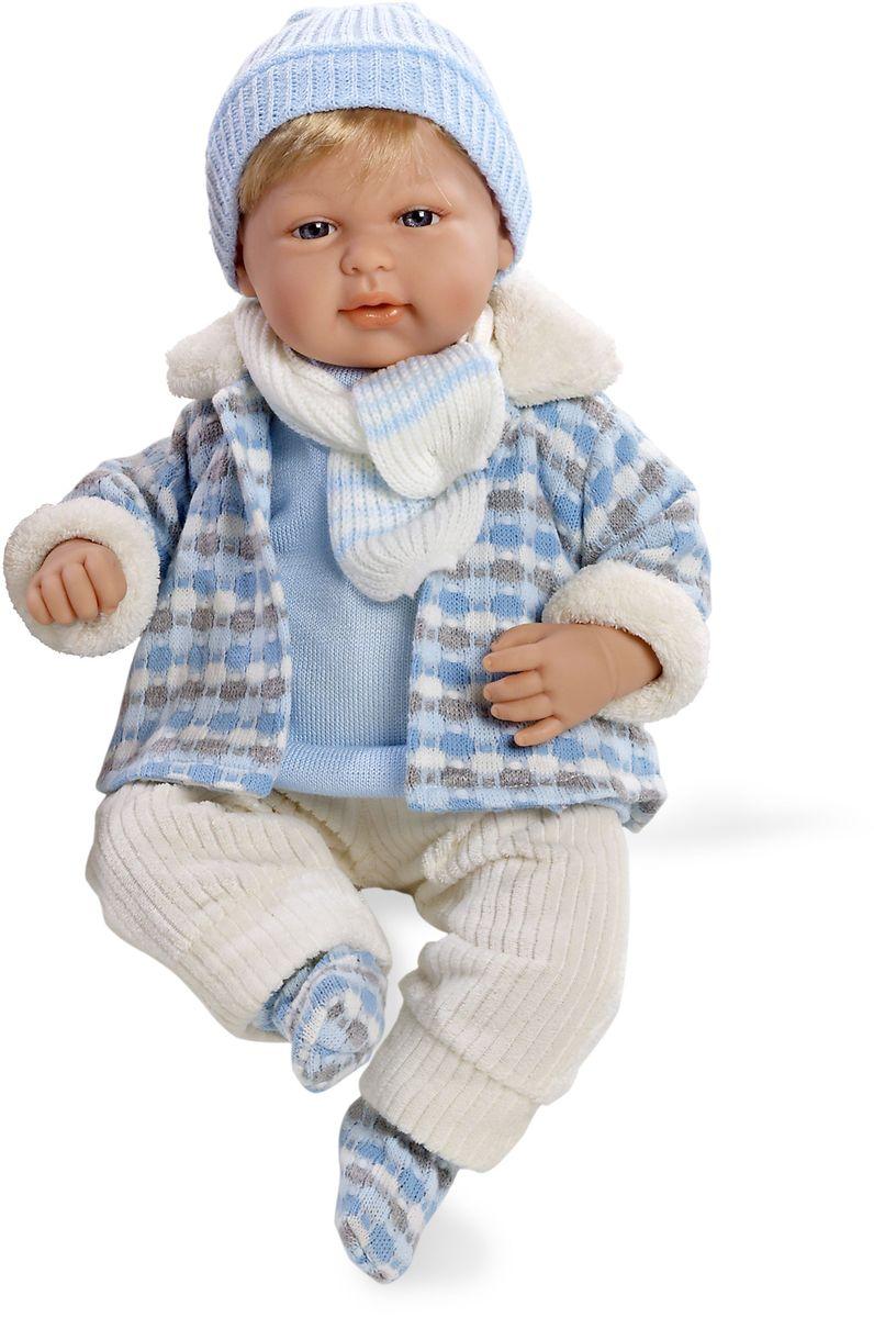 Arias Пупс озвученный Elegance цвет одежды голубой Т59789 arias пупс цвет платья белый розовый 42 см т59289