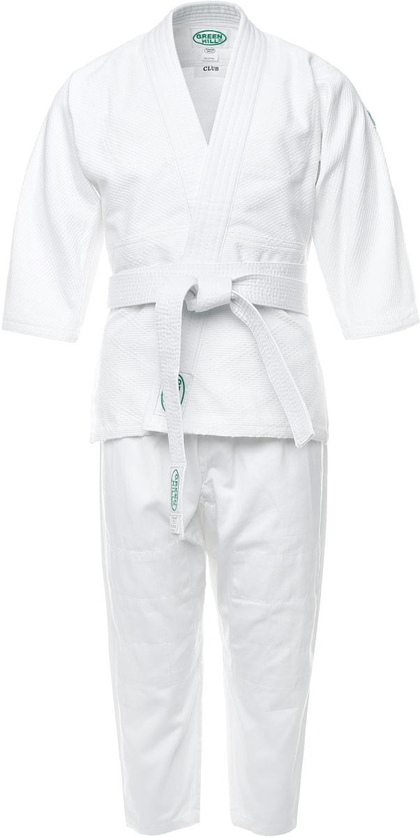 Кимоно детское для дзюдо Green Hill Club, цвет: белый. P1020-0. Размер 0/130