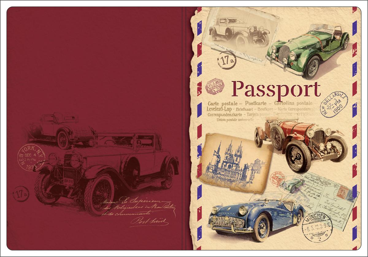 Обложка для паспорта Magic Home, цвет: бордовый, бежевый. 4451644516Обложка для паспорта от Magic Home классической модели выполнена из поливинилхлорида. Модель с широкими полями, оформлена оригинальным принтом.
