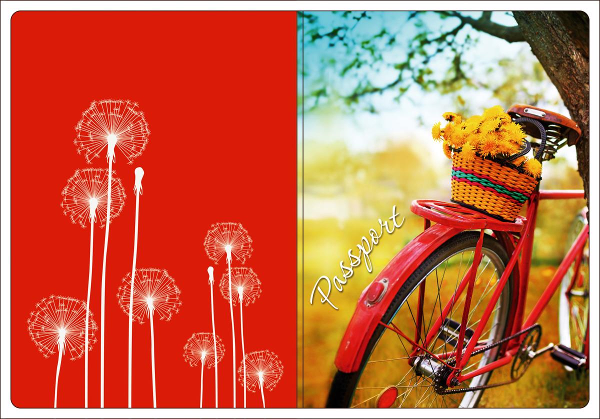 Обложка для паспорта Magic Home, цвет: красный, оранжевый. 44518