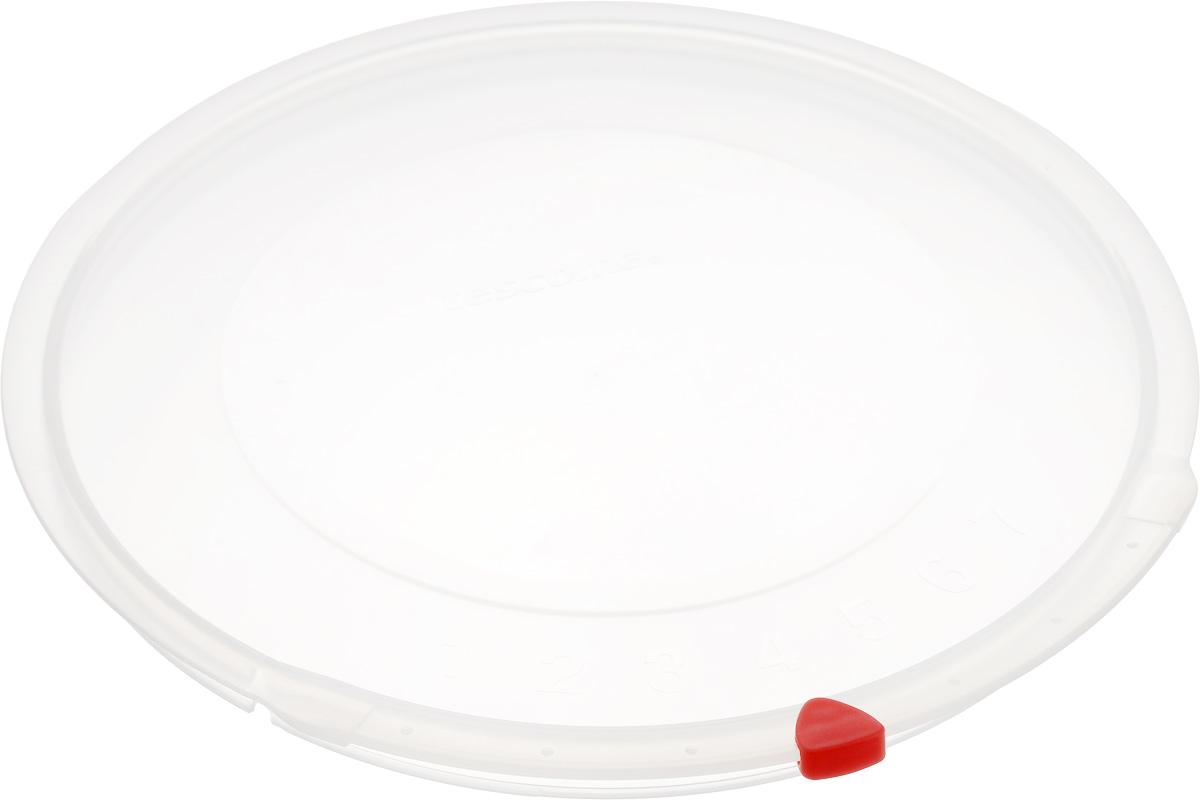 Крышка Tescoma Unicover, диаметр 22 см782822Крышка Tescoma Unicover используется при хранении еды, для закрытия высоких кастрюль, кастрюль и ковшей из нержавеющей стали. Плоская форма крышки позволяет складывать посуду в целях экономии места в холодильнике. Пища, закрытая пластиковой крышкой, не высыхает и не впитывает запахи других продуктов питания. На крышке имеется семидневный датировщик для индикации с первого дня хранения. Изделие выполнено из пластмассового материала, предназначенного для медицинских и фармацевтических целей. Можно мыть в посудомоечной машине.Подходит для кастрюль диаметром 22 см.Диаметр крышки (по верхнему краю): 23,5 см.