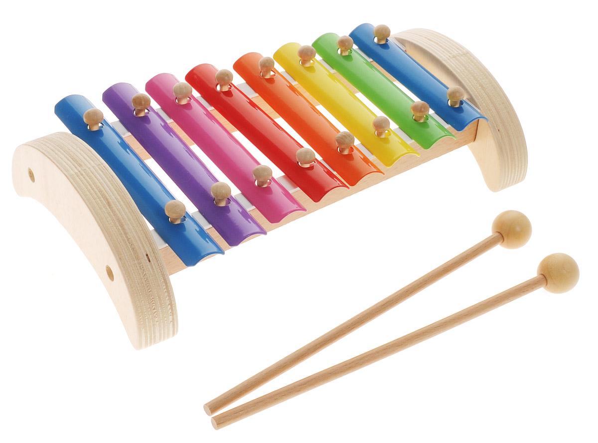 Мир деревянных игрушек Ксилофон 8 тонов
