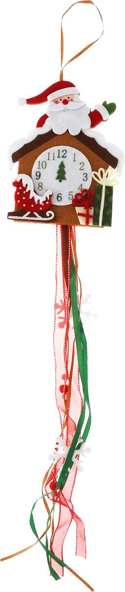 Украшение новогоднее подвесное House & Holder Дед Мороз. Часы, длина 60 смDP-C04-38213Новогоднее подвесное украшение House & Holder Дед Мороз. Часы выполнено из фетра и текстиля. С помощью специальной петельки украшение можно повесить в любом понравившемся вам месте. Елочная игрушка - символ Нового года. Она несет в себе волшебство и красоту праздника. Создайте в своем доме атмосферу веселья и радости, украшая новогоднюю елку нарядными игрушками, которые будут из года в год накапливать теплоту воспоминаний.Размер: 13,5 х 1 х 60 см.