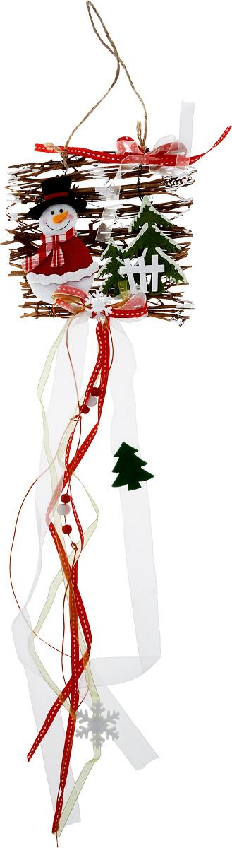 Украшение новогоднее подвесное House & Holder Снеговик, длина 65 смDP-C04-38086Новогоднее подвесное украшение House & HolderСнеговик выполнено из дерева, текстиля и фетра. Спомощьюспециальной петельки украшение можно повесить влюбом понравившемся вамместе. Она несет всебе волшебство и красотупраздника. Создайте в своем доме атмосферувеселья и радости, украшаяновогоднюю елку нарядными игрушками, которыебудут из года в год накапливатьтеплоту воспоминаний. Длина: 65 см.
