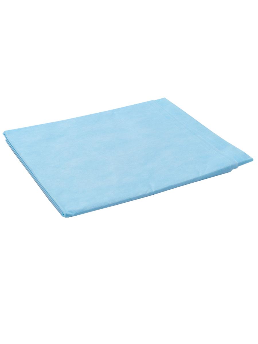 Простыня СМС 200 х 80 см голубой, 20шт./уп. чистовье фартук полиэтилен 120 70 см люкс прозрачный 70 шт уп коробка
