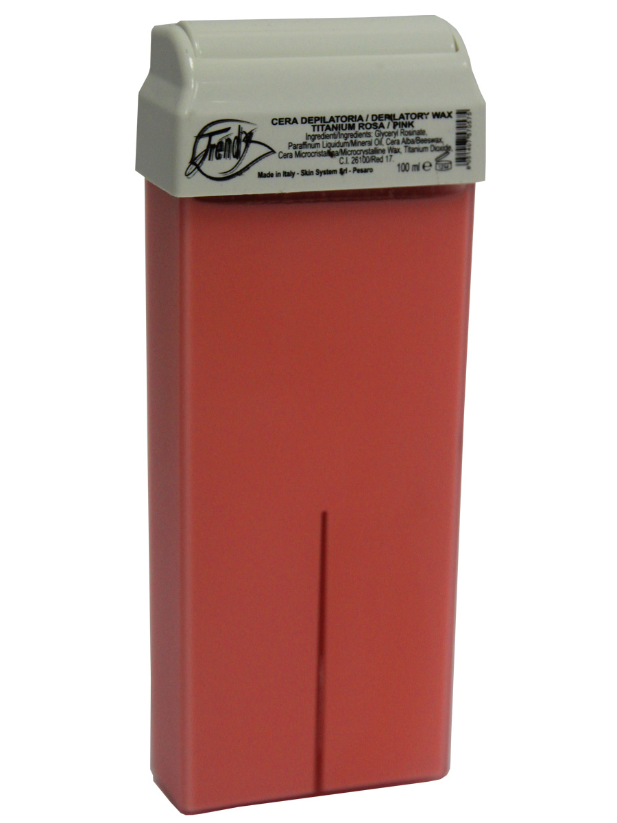 Trendy Воск для депиляции Розовый (с диоксидом титана) в картридже, 100 мл