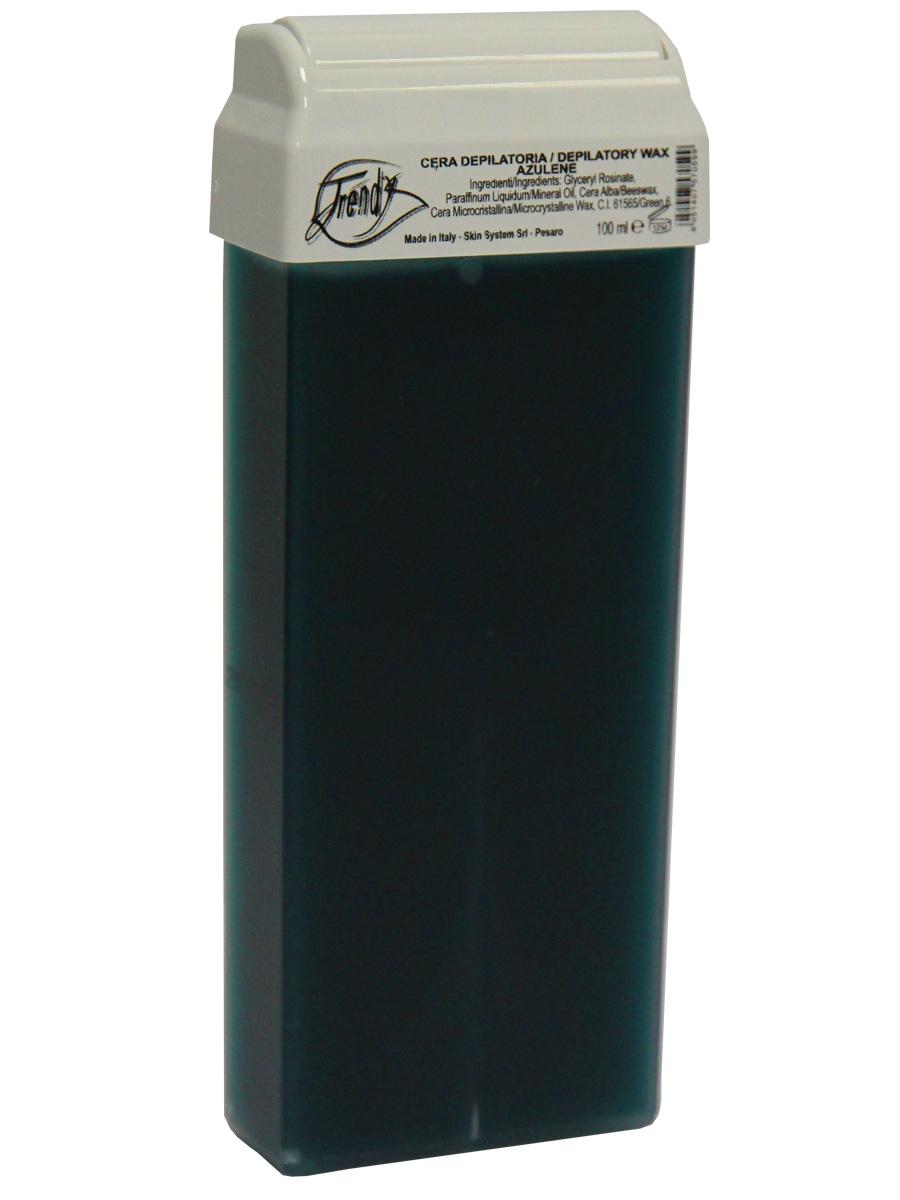 Trendy Воск для депиляции Синий в картридже, 100 мл30003Подходит для чувствительной кожи склонной к раздражению.Описание:Классический воск с легкой кремообразной текстурой, со смягчающими и успокаивающими компонентами. Обладает противовоспалительным, успокаивающим и смягчающим действием благодаря содержанию азулена и диоксида титана.