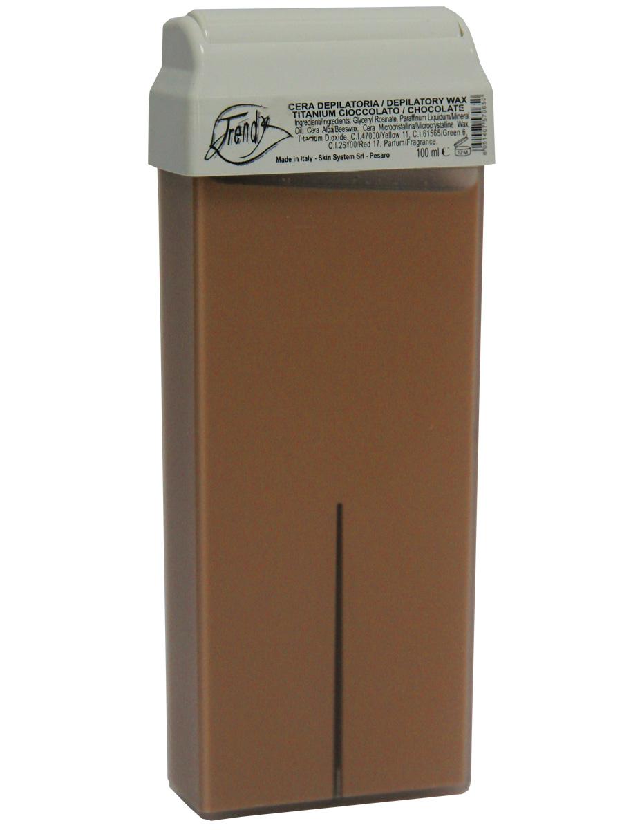 TrendyВоск для депиляции Шоколадный (с диоксидом титана) в картридже, 100 мл Trendy