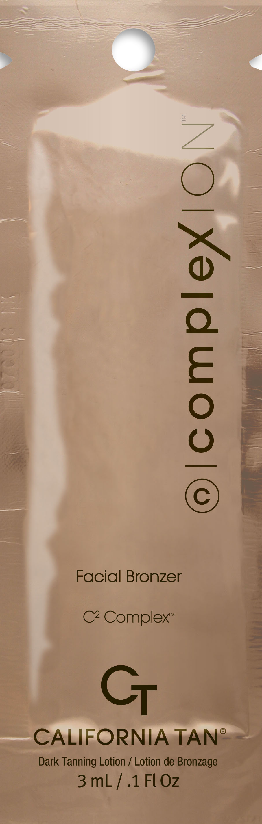 California Tan Крем для загара в солярии ComplexION Facial Bronzer, 3 млCT1186Лосьон для лица с кислородным усилителем загара для всех типов кожи. Описание:CC Bronze™ обеспечивает мгновенный цвет, который подстраивается к тону кожи для идеального цвета лица. ION Color Technology™C2 Complex™ - улучшает цвета лица, помогает усовершенствовать тон кожи, делая ее более эластичной. OxC Technology™ помогает омолодить клетки кожи и насыщает кожу кислородом, уменьшая морщины.