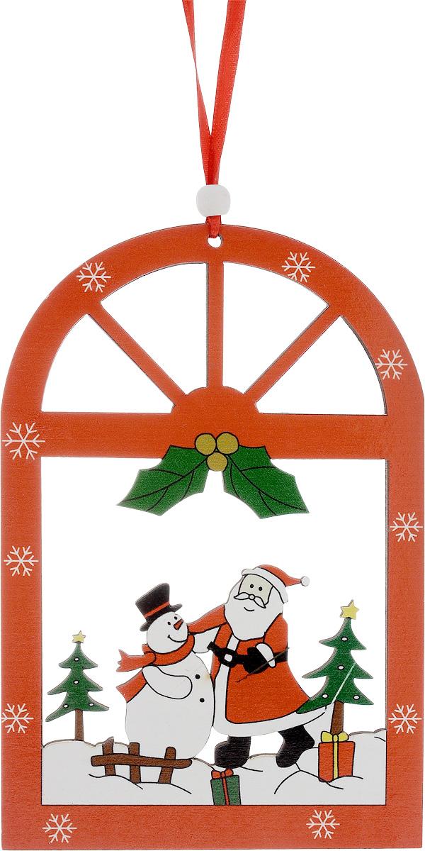 Украшение новогоднее подвесное House & Holder Дед Мороз. Снеговик, высота 18,5 смDP-C04-36117Новогоднее подвесное украшение House & Holder Дед Мороз. Снеговик выполнено из дерева. С помощью специальной петельки украшение можно повесить в любом понравившемся вам месте. Но, конечно, удачнее всего оно будет смотреться на праздничной елке.Елочная игрушка - символ Нового года. Она несет в себе волшебство и красоту праздника. Создайте в своем доме атмосферу веселья и радости, украшая новогоднюю елку нарядными игрушками, которые будут из года в год накапливать теплоту воспоминаний.Размер: 12,5 х 0,3 х 18,5 см.