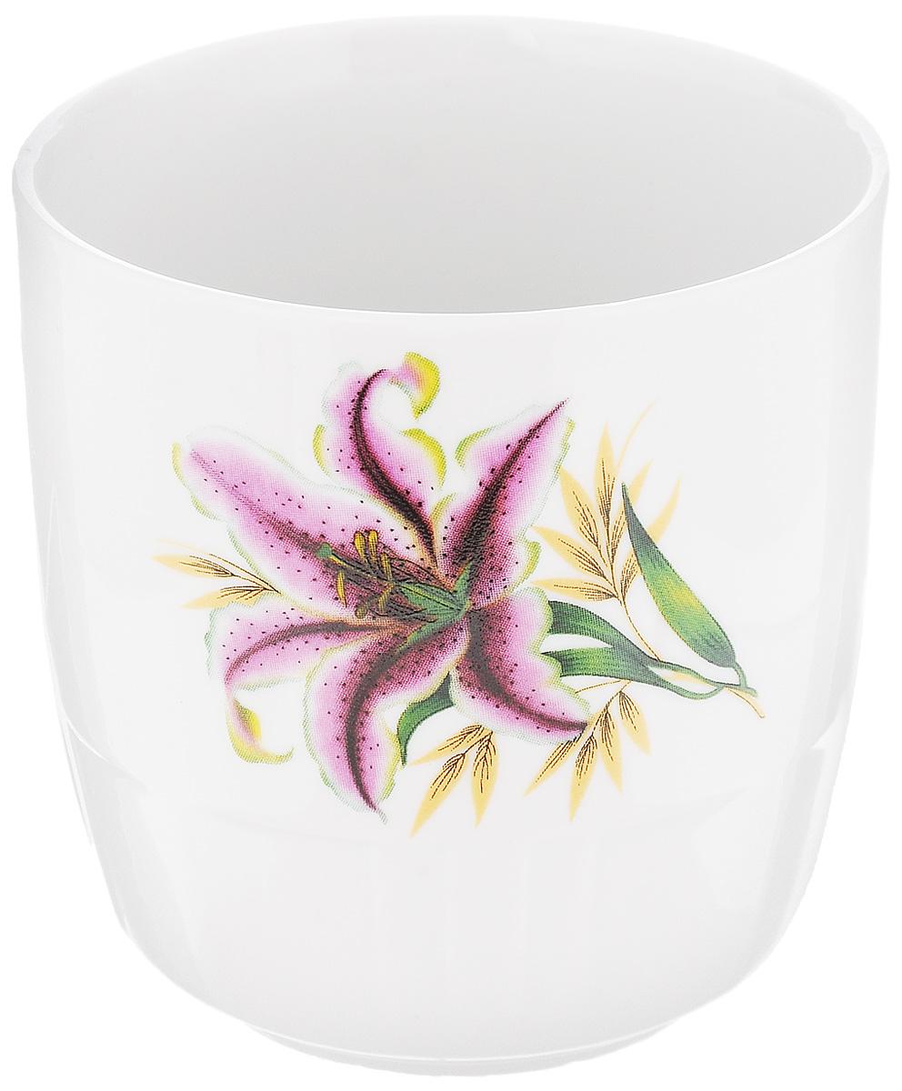 Кружка Фарфор Вербилок Арабеска. Розовая лилия, 250 мл24321990Кружка Фарфор Вербилок Арабеска. Розовая лилия способна скрасить любое чаепитие. Изделие выполнено из высококачественного фарфора. Посуда из такого материала позволяет сохранить истинный вкус напитка, а также помогает ему дольше оставаться теплым.Диаметр по верхнему краю: 8,3 см.Высота кружки: 9 см.