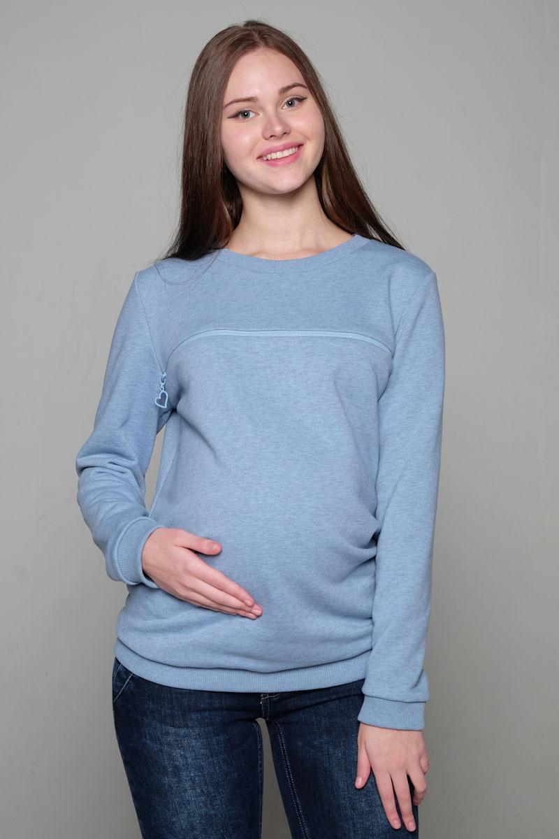 Джемпер для беременных и кормящих Hunny Mammy, цвет: голубой. 2-НМ 34114. Размер 502-НМ 34114Удобный универсальный джемпер для будущих и кормящих мам выполнен из мягкого эластичного трикотажного полотна. Округлый вырез горловины, длинный рукав на манжете, секрет для кормления в виде молнии.