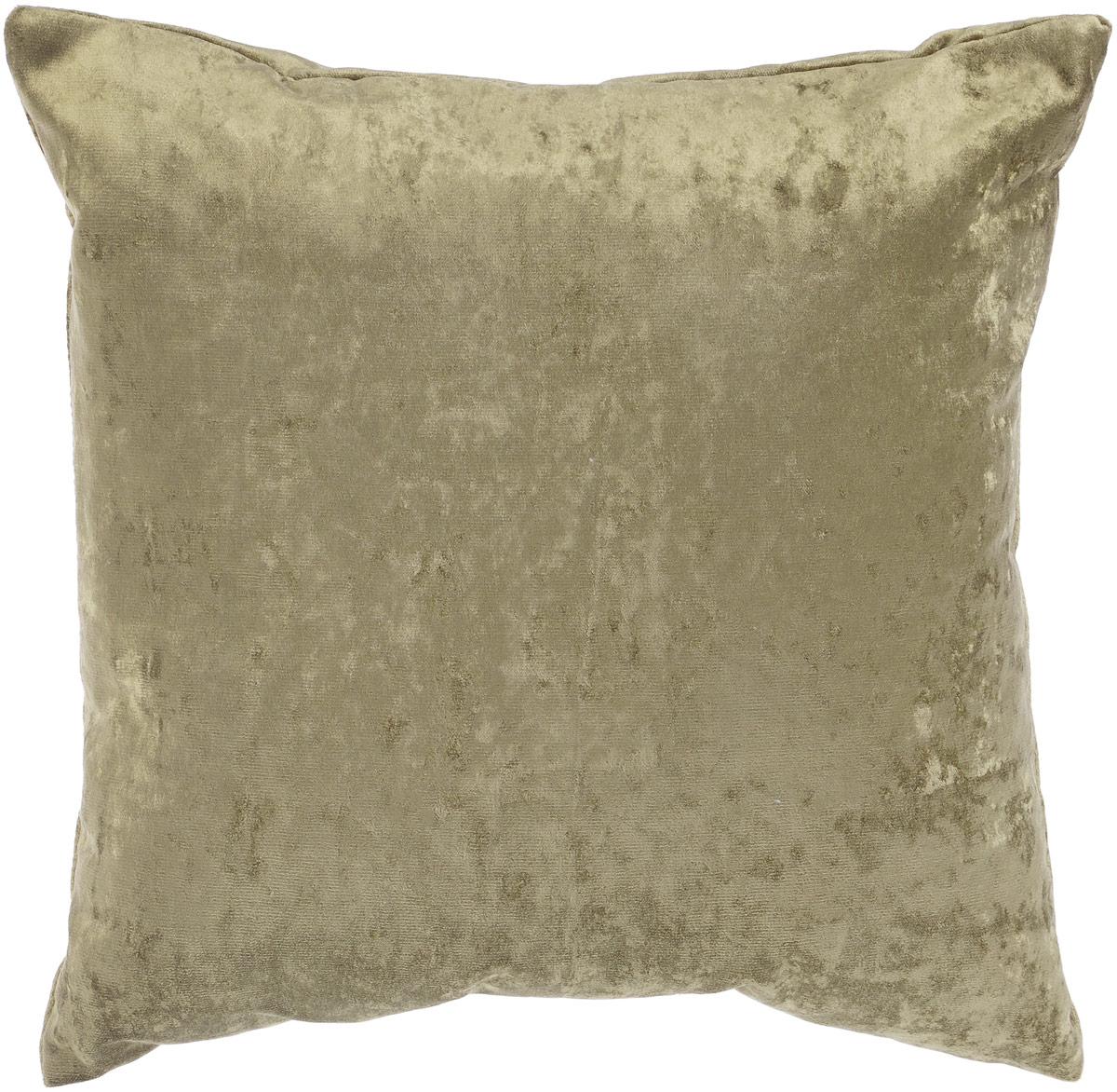 """Декоративная подушка """"Бархат"""" прекрасно дополнит интерьер спальни или гостиной. Бархатистый на ощупь чехол подушки выполнен из 49% вискозы, 42% хлопка и 9% полиэстера. Внутри находится мягкий наполнитель. Чехол легко снимается благодаря потайной молнии. Красивая подушка создаст атмосферу уюта и комфорта в спальне и станет прекрасным элементом декора."""
