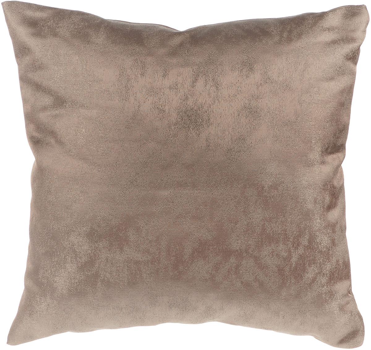 Подушка декоративная KauffOrt Магия, цвет: кофейный, 40 x 40 см10503Декоративная подушка Магия прекрасно дополнит интерьер спальни или гостиной. Очень нежный на ощупь чехол подушки выполнен из прочного полиэстера. Внутри находится мягкий наполнитель. Чехол легко снимается благодаря потайной молнии. Красивая подушка создаст атмосферу уюта и комфорта в спальне и станет прекрасным элементом декора.