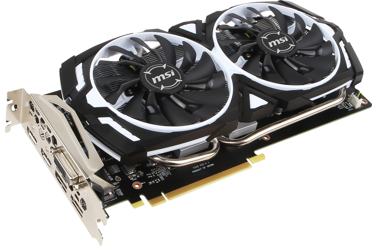 MSI GeForce GTX 1060 ARMOR OCV1 6GB видеокарта видеокарта 6144mb msi geforce gtx 1060 gaming x 6g pci e 192bit gddr5 dvi hdmi dp hdcp retail