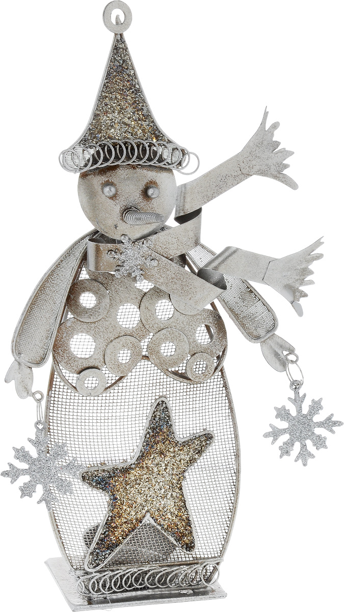 Фигурка декоративная House & Holder Снеговик, 14 х 5 х 27 см подсвечник house & holder высота 14 см