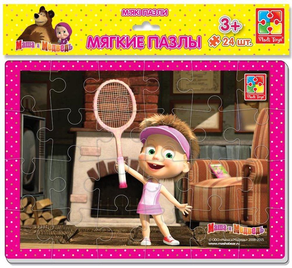 Vladi Toys Пазл для малышей Маша и теннисная ракетка vladi toys пазл для малышей ягоды фрукты 4 в 1