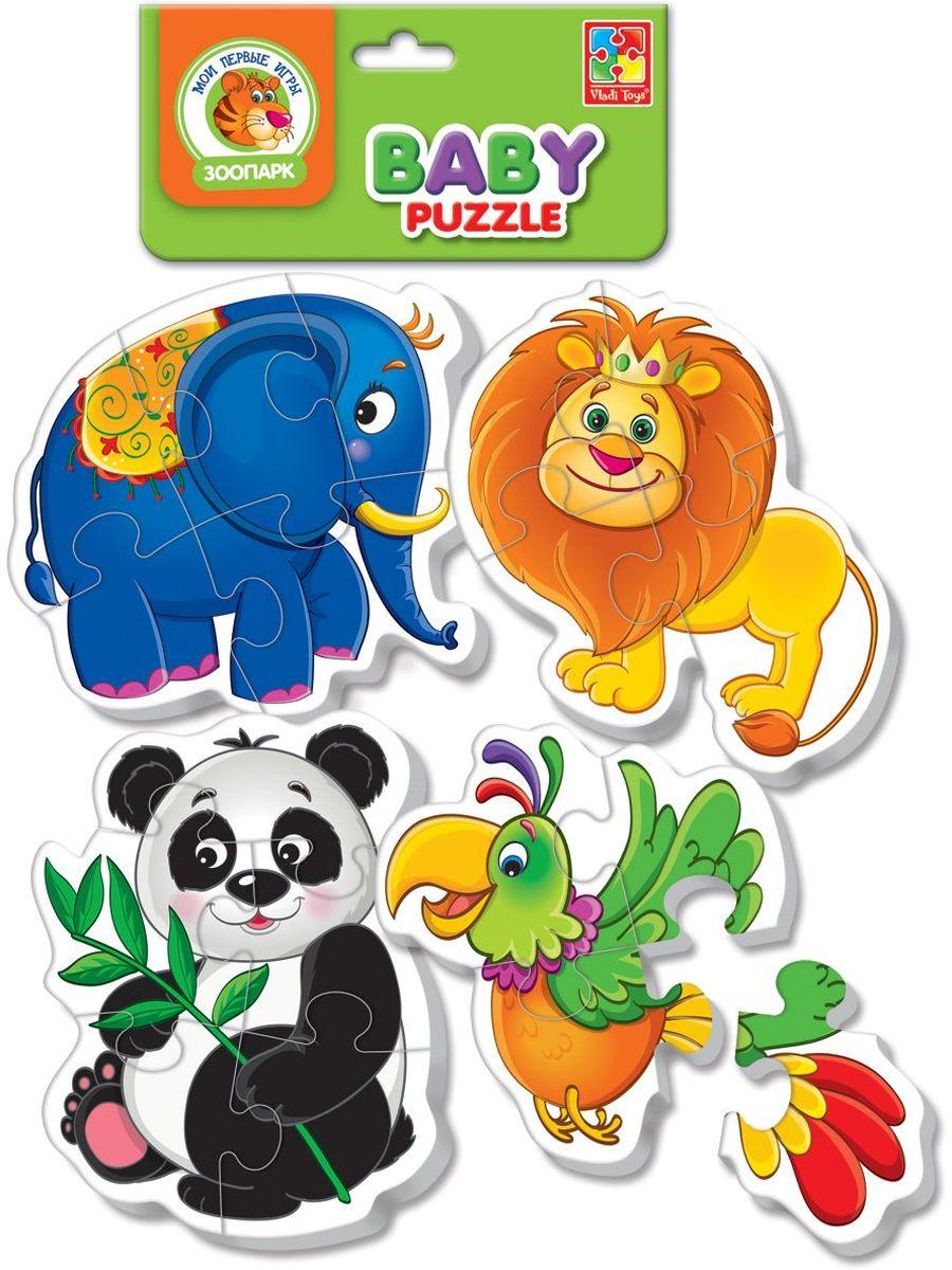 Vladi Toys Мягкие пазлы Baby puzzle Зоопарк vladi toys пазл для малышей ягоды фрукты 4 в 1