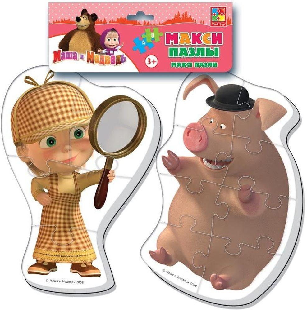 Vladi Toys Пазл для малышей Maxi Маша и Медведь VT1108-04 пазлы maxi сказки 03542