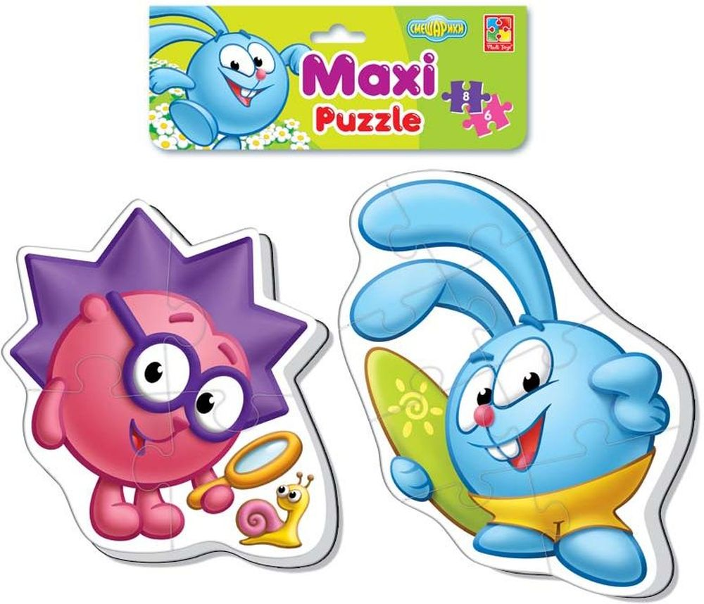 Vladi Toys Мягкие пазлы Maxi puzzle Смешарики Крош и Ёжик пазлы vladi toys пазлы мягкие baby puzzle сказки репка