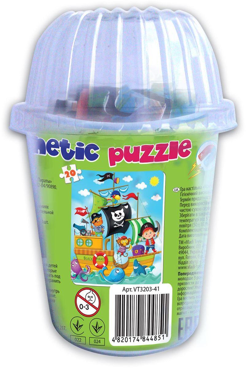 Vladi Toys Мягкие магнитные пазлы в стакане Пираты