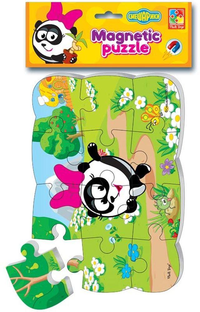 Vladi Toys Пазл для малышей Панди мягкие пазлы математика на магнитах