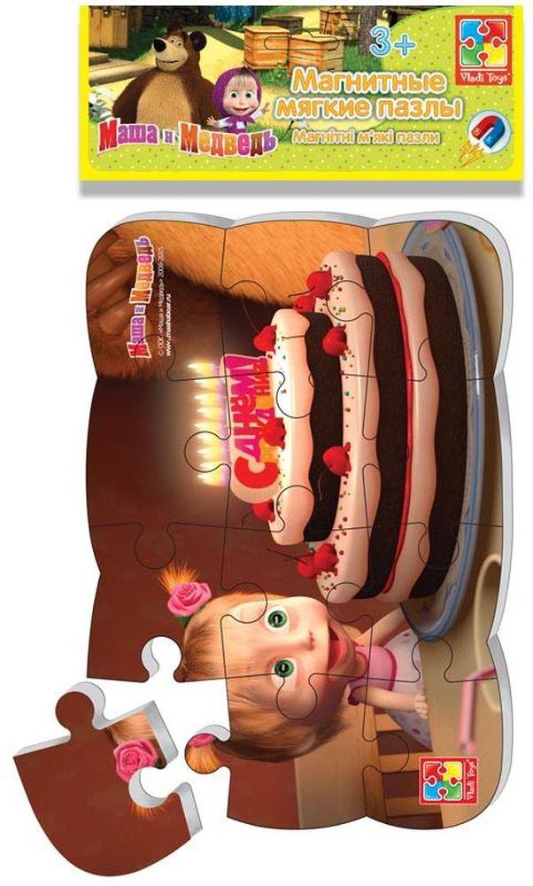 Vladi Toys Пазлы на магните Маша и Медведь День рождения пазлы бомик пазлы книжка репка