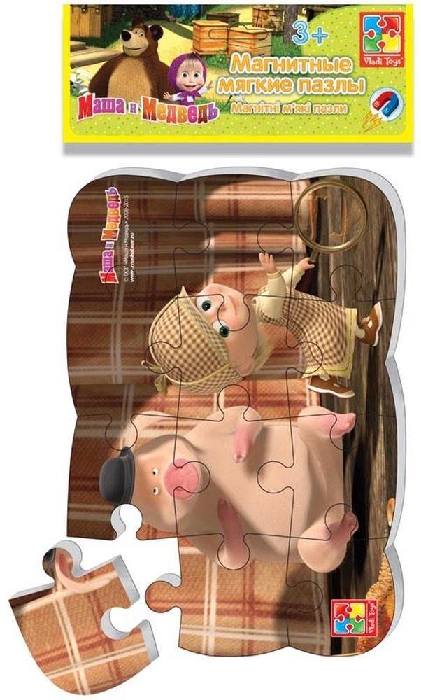 Vladi Toys Пазл для малышей Маша Шерлок Холмс мягкие пазлы математика на магнитах