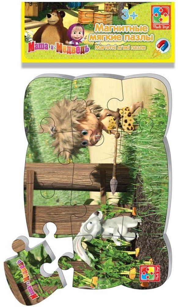 Vladi Toys Пазл для малышей Первобытная Маша развивающая игра пазл маша и медведь 4 элемента