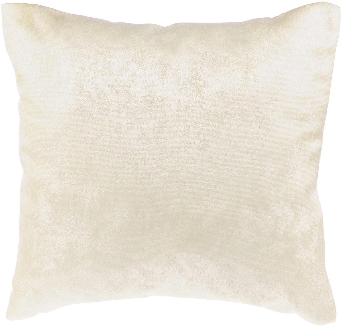 Подушка декоративная KauffOrt Магия, цвет: кремовый, 40 x 40 см3121909611Декоративная подушка Магия прекрасно дополнит интерьер спальни или гостиной. Приятный на ощупь чехол подушки выполнен из полиэстера. Внутри находится мягкий наполнитель. Чехол легко снимается благодаря потайной молнии в тон ткани. Красивая подушка создаст атмосферу уюта и комфорта в спальне и станет прекрасным элементом декора.