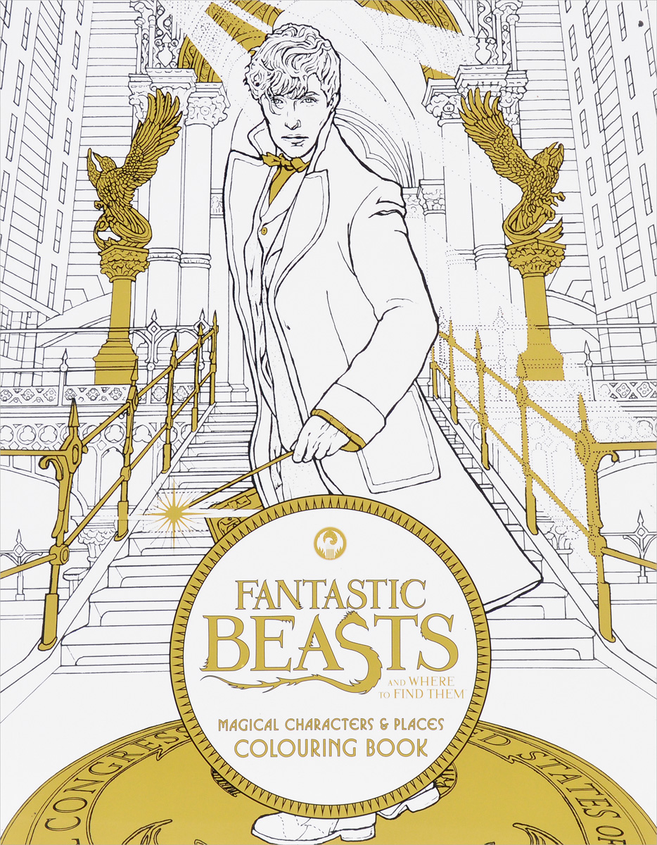 Fantastic Beasts and Where to Find Them. Magical Characters & Places. Colouring Book national tree company 180 31pc6ms pc3 6ms
