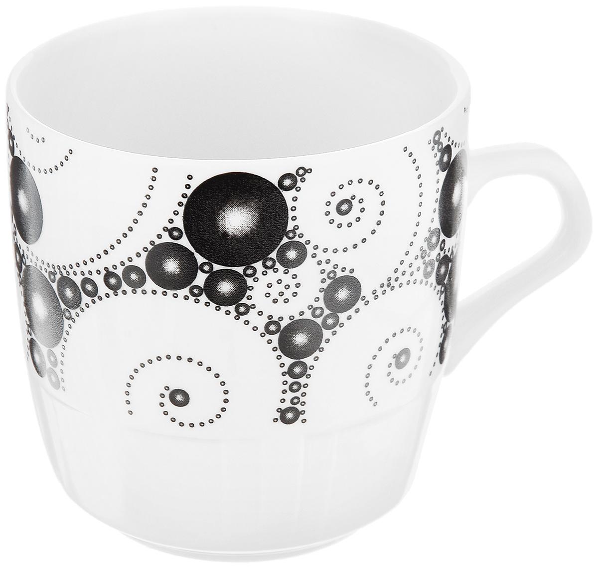 Кружка Фарфор Вербилок Жемчужный, 250 мл1371640Кружка Фарфор Вербилок Жемчужный способна скрасить любое чаепитие. Изделие выполнено из высококачественного фарфора. Посуда из такого материала позволяет сохранить истинный вкус напитка, а также помогает ему дольше оставаться теплым.Диаметр по верхнему краю: 8 см.Высота кружки: 8,5 см.