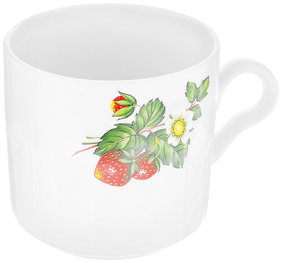 Кружка Фарфор Вербилок Цветущая земляника, 500 мл5721490Кружка Фарфор Вербилок Цветущая земляника способна скрасить любое чаепитие. Изделие выполнено из высококачественного фарфора. Посуда из такого материала позволяет сохранить истинный вкус напитка, а также помогает ему дольше оставаться теплым.Диаметр по верхнему краю: 9,5 см.Высота кружки: 9,5 см.
