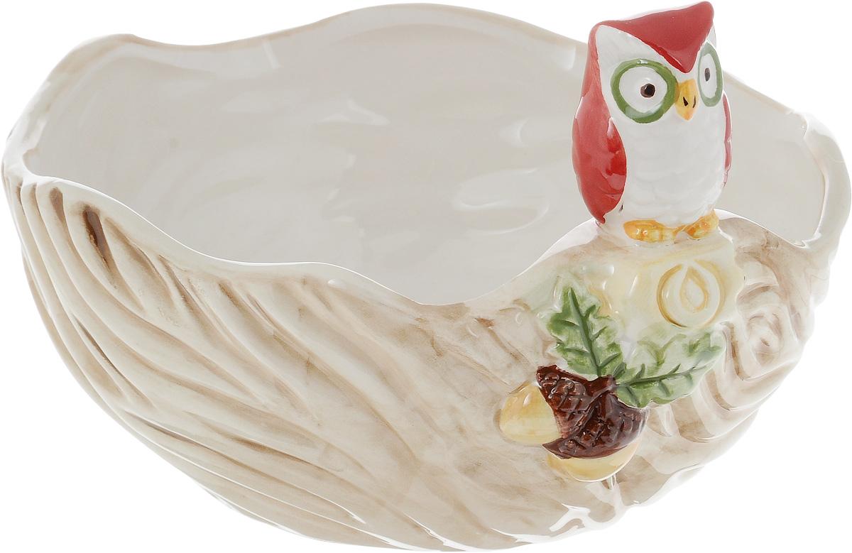 Салатник House & Holder Сова, 540 млDP-B63-69335BКруглый салатник House & Holder Сова изготовлен из высококачественной керамики. Изделие прекрасно подойдет для сервировки ягод, овощей и фруктов, салатов и других продуктов. Салатник House & Holder Сова станет отличным дополнением к коллекции вашей кухонной посуды.Высота салатника с учетом фигурки: 11 см.