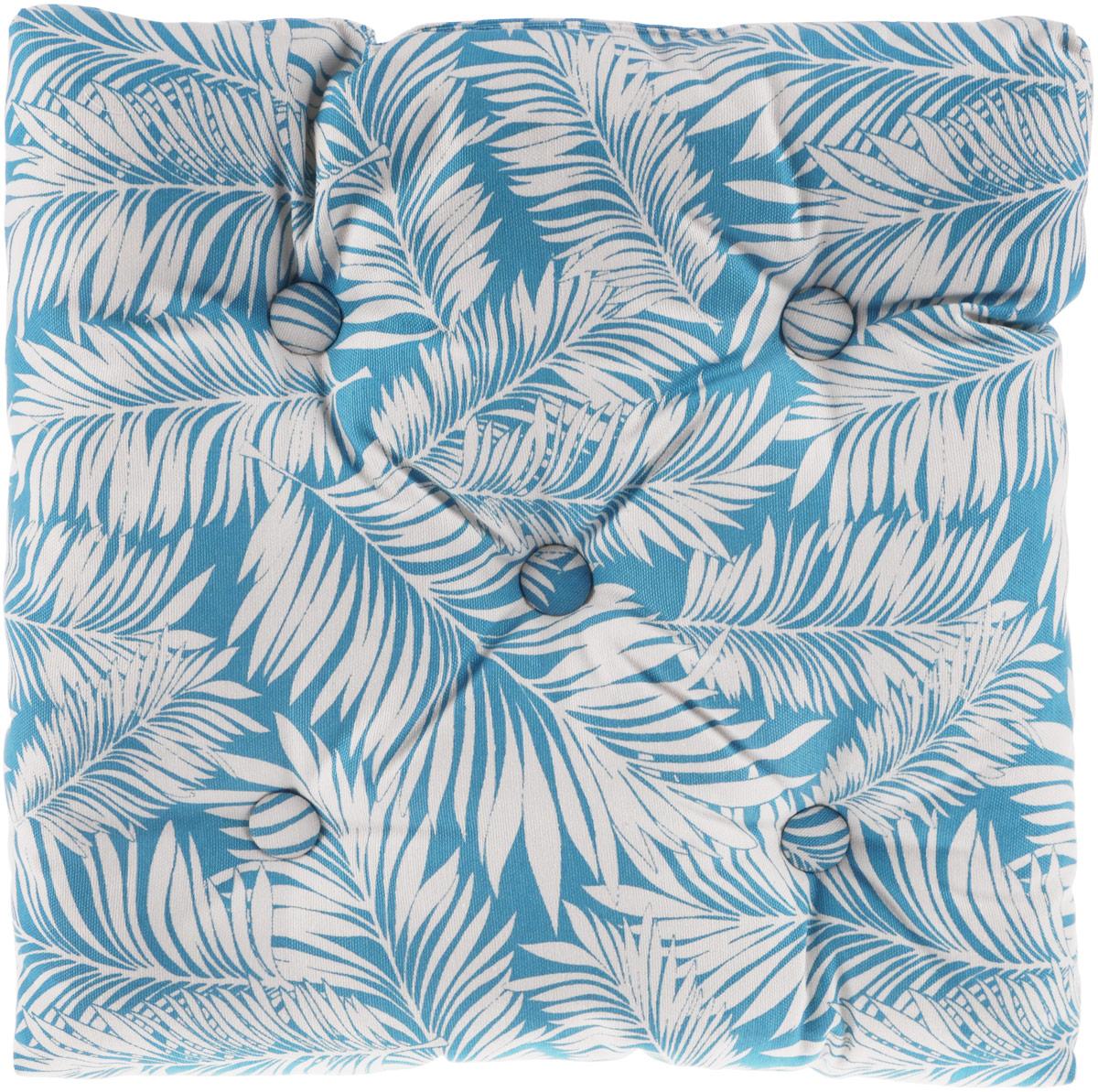 Подушка на стул KauffOrt Лазурный берег, цвет: голубой, белый, 40 x 40 см подушки pastel подушка на стул