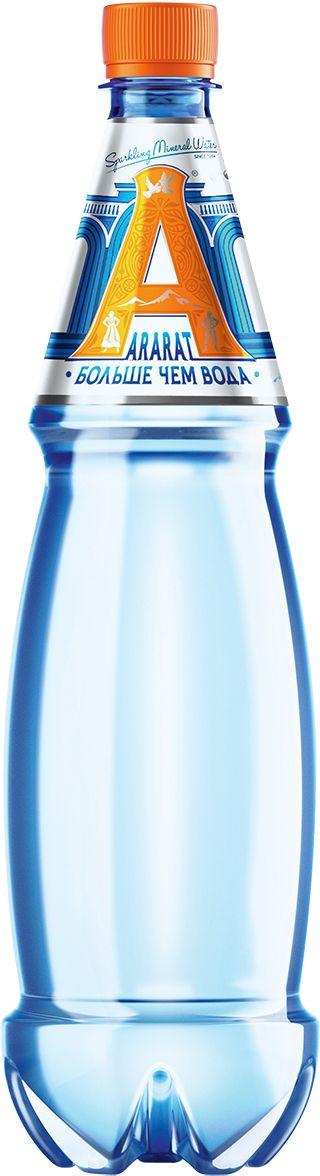 Ararat вода газированная минеральная лечебно-столовая, 1 л санаторио вода минеральная питьевая лечебно столовая газированная 1 5 л