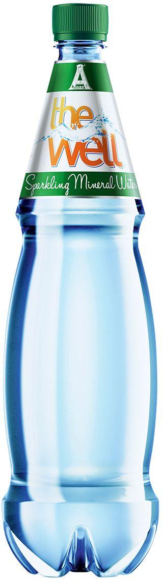 Well Sparkling вода газированная минеральная столовая природная, 1 л
