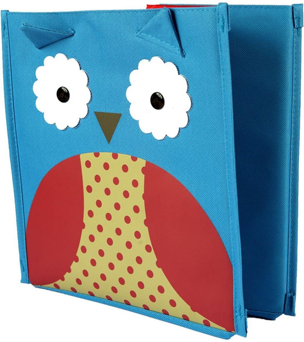 """Яркая коробка с привлекательным дизайном предназначена для оптимизации хранения небольших детских вещей: игрушек, канцтоваров, одежды и обуви. Коробка освободит место в квартире и украсит любую детскую. В детской вашего малыша не хватает места? Не знаете, куда деваться от большого количества игрушек? Справиться с недостатком площади вам поможет квадратная коробка для хранения """"Сова""""! • Красочная и вместительная коробка размером 26,5 х 28 х 28 см станет настоящим помощником в уборке детской спальни. Внутри можно хранить самые разнообразные вещи: от игрушек до одежды. • Коробка для хранения отличается высоким качеством. Любой ребенок будет рад видеть в своей комнате такое оригинальное приспособление! • Ящичек можно поставить где угодно: поместить его в шкаф, под кровать или отправить на балкон. Т.к. изделие легко складывается, его можно перевезти на дачу или в другую квартиру без лишних трудностей.• Ребенок запросто сможет справляться с коробкой сам: она мало весит и имеет удобные боковые ручки."""