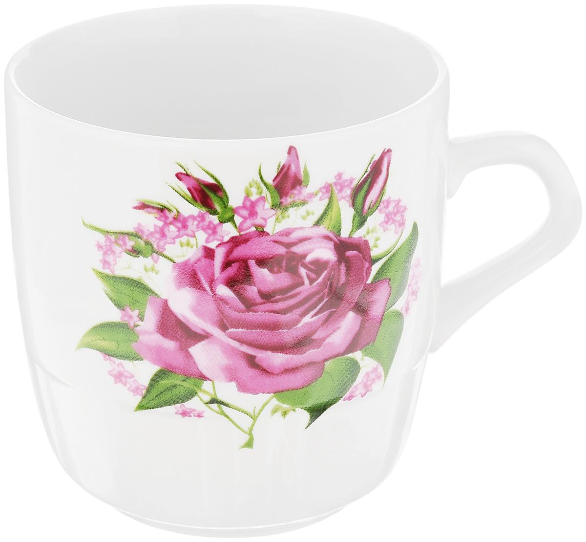 Кружка Фарфор Вербилок Розовые бутоны, 250 мл5811060Кружка Фарфор Вербилок Розовые бутоны способна скрасить любое чаепитие. Изделие выполнено из высококачественного фарфора. Посуда из такого материала позволяет сохранить истинный вкус напитка, а также помогает ему дольше оставаться теплым.Диаметр по верхнему краю: 8 см.Высота кружки: 8,5 см.