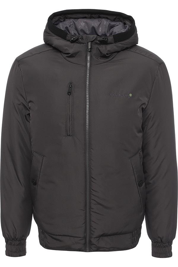 Куртка мужская Finn Flare, цвет: темно-серый. W16-42001_202. Размер L (50)W16-42001_202Стильная мужская куртка Finn Flare превосходно подойдет для прохладных дней. Куртка выполнена из высококачественного материала с подкладкой и утеплителем из полиэстера. Модель с длинными рукавами и несъемным капюшоном застегивается на застежку-молнию. Капюшон на стопперах, а макушка дополнена утягивающим хлястиком. Спереди изделие дополнено двумя втачными карманами с клапанами на кнопках и одним прорезным на молнии. На внутренней стороне куртка оформлена одним прорезным карманом на молнии и двумя втачными карманами на липучке и пуговице. Манжеты и низ изделия выполнены из эластичной резинки. Оформлена модель на груди вышивкой с названием бренда.