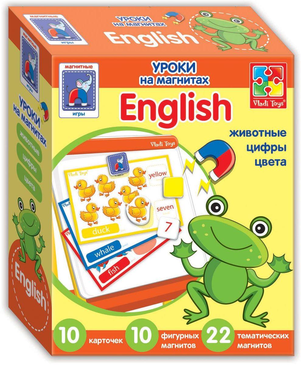 Vladi Toys Обучающая игра English Животные учимся считать повторяем цифры считаем и сравниваем раскраска