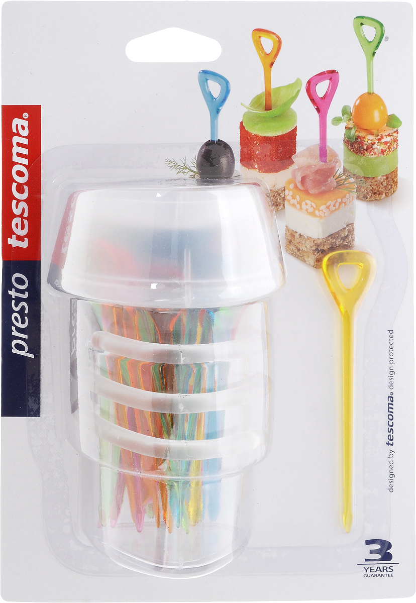 Набор шпажек Tescoma Presto. Party, с держателем, 30 шт420985Шпажки Tescoma Presto. Party отлично подходят для сервировки канапе, фруктов, овощей и других блюд. Изделия выполнены из прочного пластика. Для удобного использования в комплекте предусмотрен держатель для шпажек.Можно мыть в посудомоечной машине.В набор входят 30 шпажек.Длина шпажек: 9,2 см.