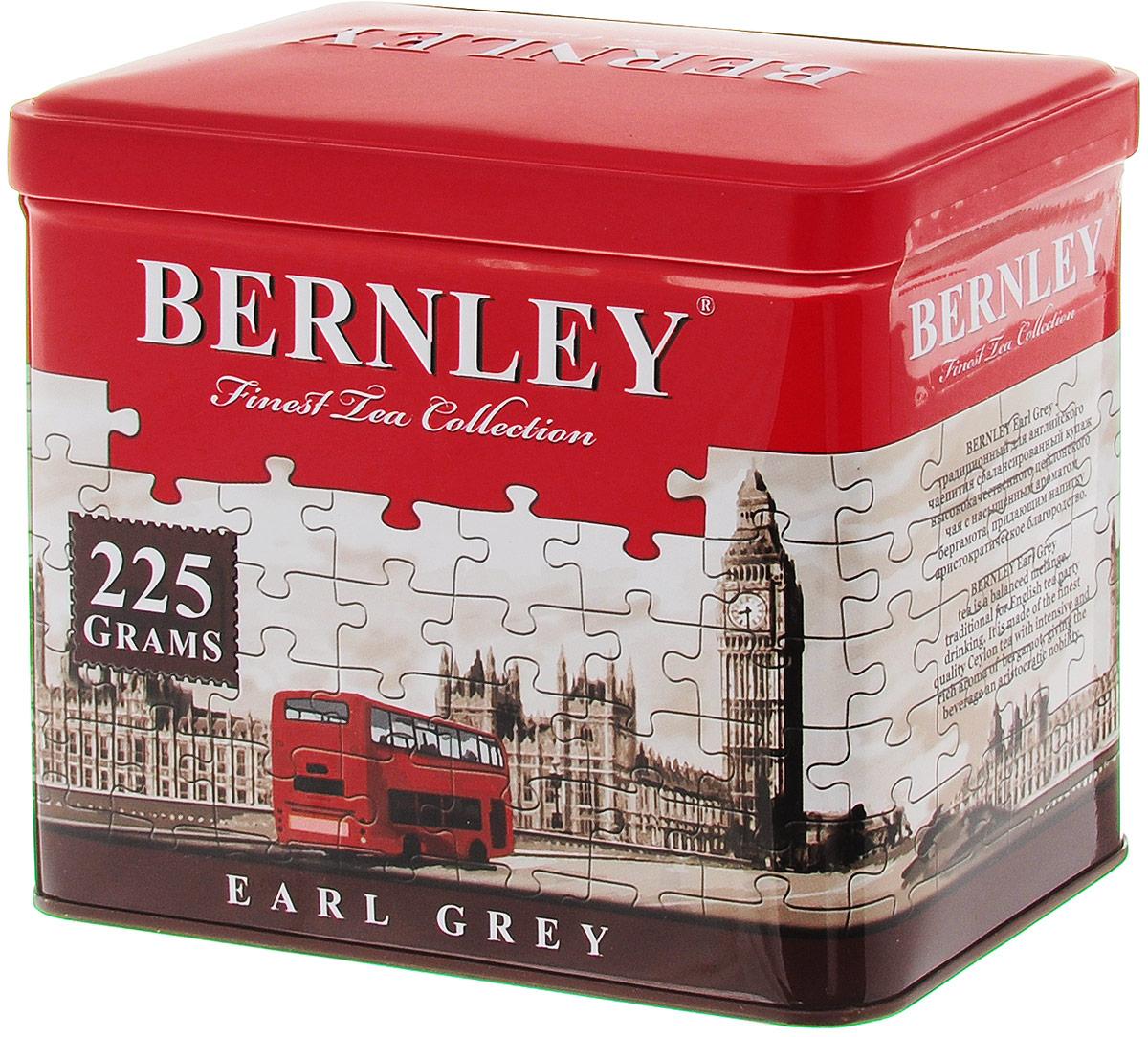 Bernley Earl Grey черный листовой ароматизированный чай, 225 г (ж/б) greenfield royal earl grey черный листовой чай 250 г