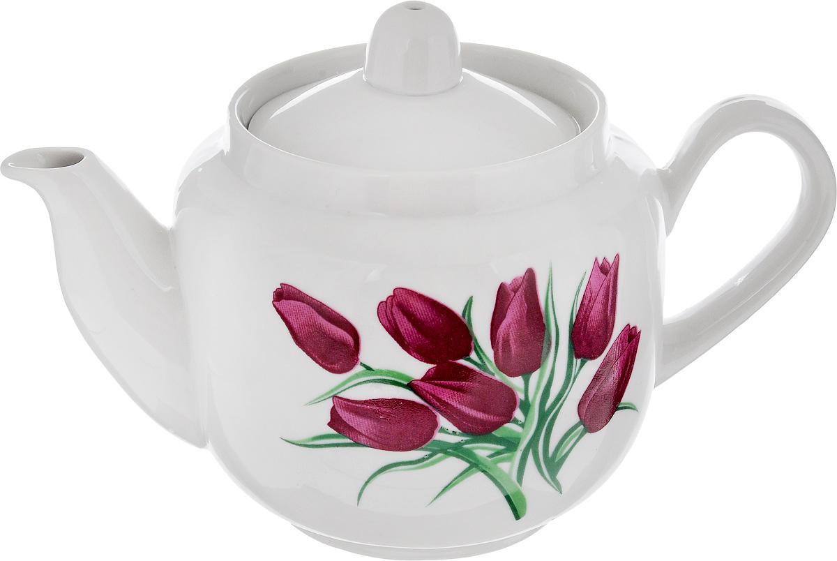 Чайник заварочный Фарфор Вербилок Август. Тюльпаны, 600 мл1730980Заварочный чайник Фарфор Вербилок Август. Тюльпаны изготовлен из высококачественного фарфора. Изделие прекрасно подходит для заваривания вкусного и ароматного чая, а также травяных настоев. Отверстия в основании носика препятствуют попаданию чаинок в чашку. Оригинальный дизайн сделает чайник настоящим украшением стола. Он удобен в использовании и понравится каждому.Диаметр чайника (по верхнему краю): 8,5 см. Высота чайника (без учета крышки): 10 см. Высота чайника (с учетом крышки): 11,5 см.