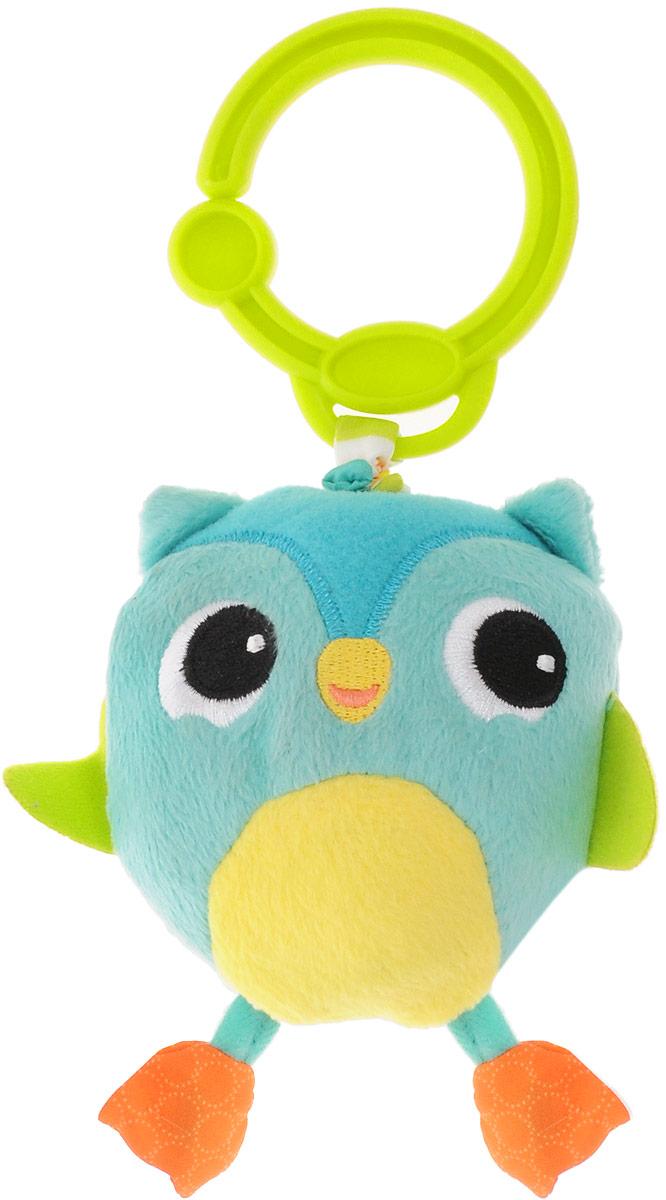 Bright Starts Мягкая развивающая игрушка-подвеска Дрожащий дружок: Сова развивающая игрушка bright starts дрожащий дружок сова с вибрацией 8808 6