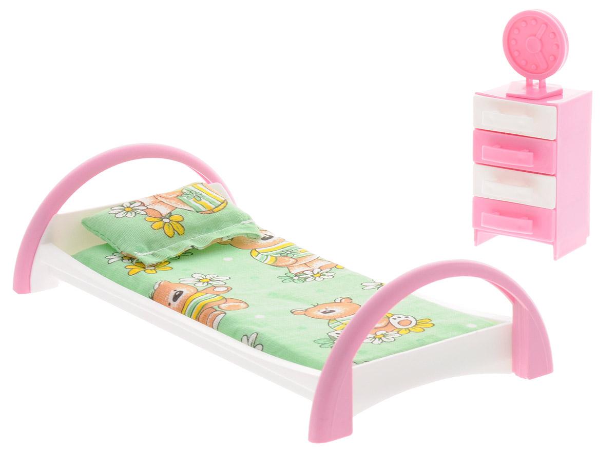 Форма Набор мебели для кукол Кровать с тумбочкой цвет зеленый коричневый как паралон для мебели в уфе