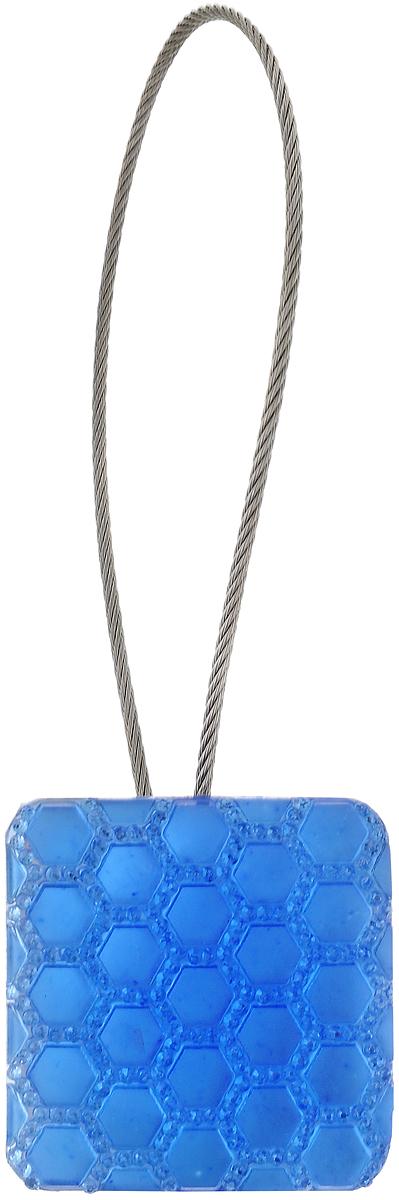 Подхват для штор TexRepublic Ajur. Tross, на магнитах, цвет: серебряный, голубой. 7899078990Изящный подхват для штор TexRepublic Ajur. Tross, выполненный из пластика и металла, можно использовать как держатель для штор или для формирования декоративных складок на ткани. С его помощью можно зафиксировать шторы или скрепить их, придать им требуемое положение, сделать симметричные складки. Благодаря магнитам подхват легко надевается и снимается.Подхват для штор является универсальным изделием, которое превосходно подойдет для любых видов штор. Подхваты придадут шторам восхитительный, стильный внешний вид и добавят уют в интерьер помещения.Длина подхвата: 20 см.Диаметр: 3,5 см.