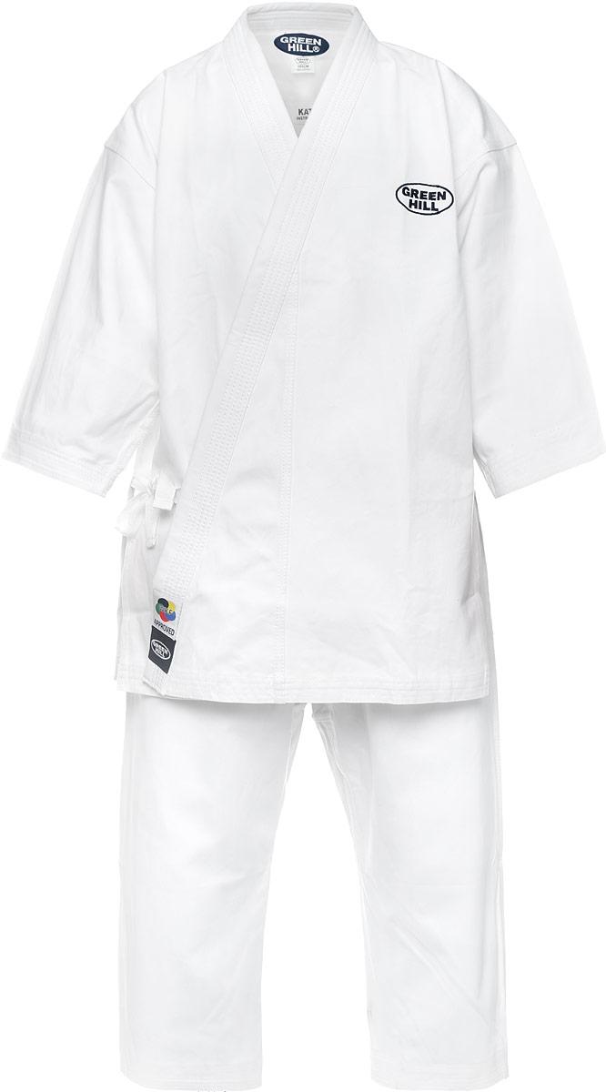 Кимоно для карате Green Hill Kata, цвет: белый. KSO-10024WKF. Размер 5/180